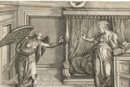 Nicolas BEATRIZET       :  L' Annonciation