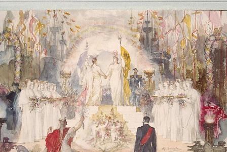 Alphonse MONCHABLON       :  Allégorie de l'alliance Franco-Russe de 1893