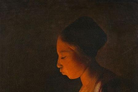 Georges de LA TOUR       :  La Fillette au braisier