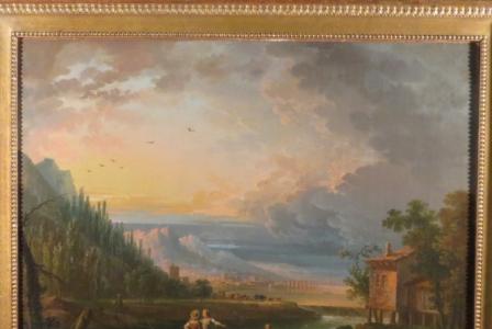 Jean-Baptiste CLAUDOT       :  Paysage animé avec pêcheurs