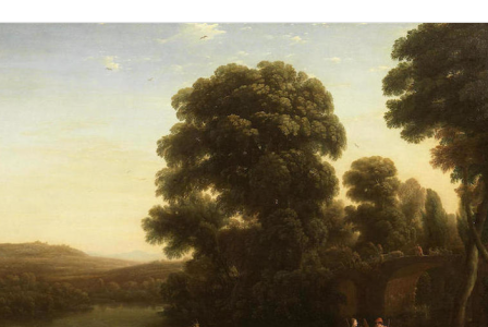 Claude GELLEE       :  A pastoral landscape with a shepherd and shepherdess