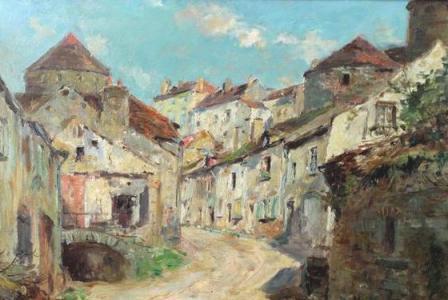 Edmond-Marie PETITJEAN         :           Montée des Remparts à Semur en Auxois