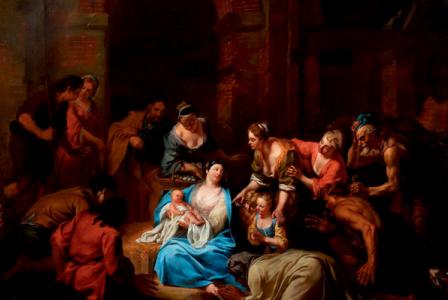 Jacob van SCHUPPEN       :  L'Adoration des bergers
