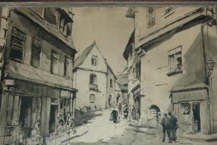Charles WITTMANN       :   Rue animée