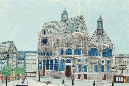 Louis VIVIN       :      La Place des Halles et l'Eglise Saint Eustache à Paris