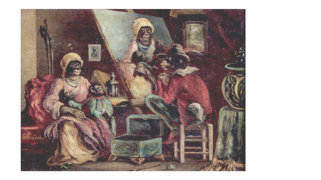 Jean Ignace Isidore GRANDVILLE       :  L'atelier des singes